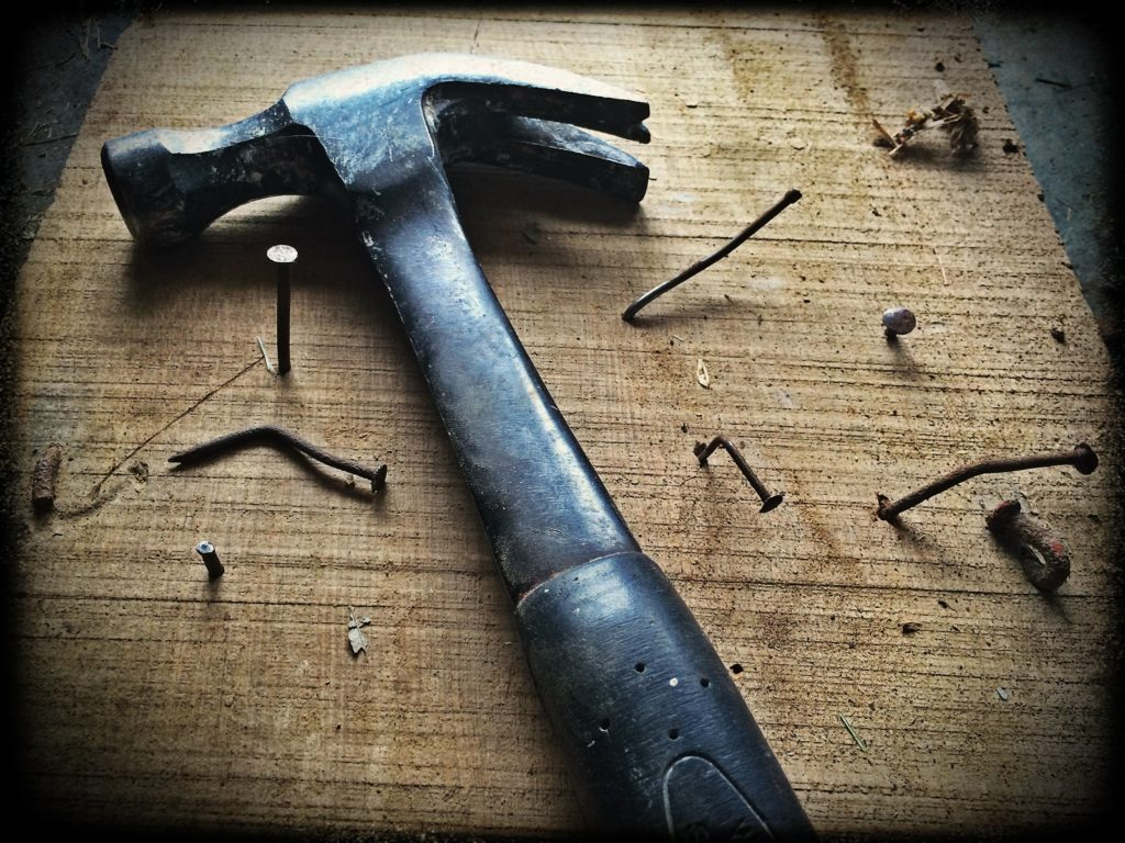 DIY hammer and nails